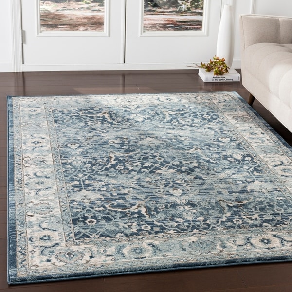 Shop Annelie Navy Amp Teal Updated Traditional Area Rug 7