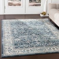 "Annelie Navy & Teal Updated Traditional Area Rug - 7'10"" x 9'10"""