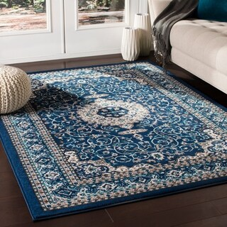 "Phaenna Traditional Navy Area Rug - 3'11"" x 5'7"""