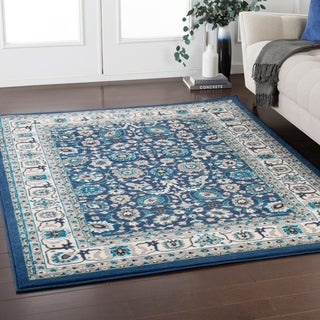 """Odell Traditional Navy Area Rug - 3'11"""" x 5'7"""""""