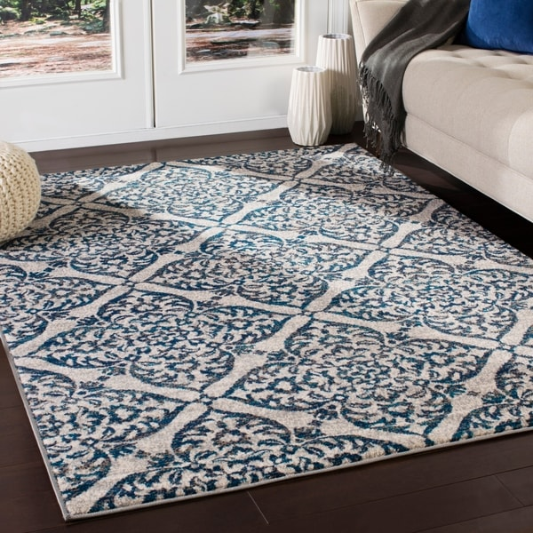 Azhar Transitional Blue & Camel Accent Rug - 2' x 3'