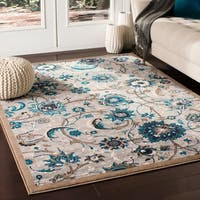 Orrell Traditional Floral Medium Grey Accent Rug - 2' x 3'