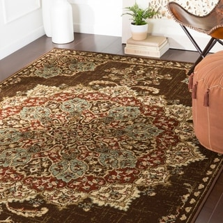 Aoede Traditional Dark Brown Accent Rug - 2' x 3'