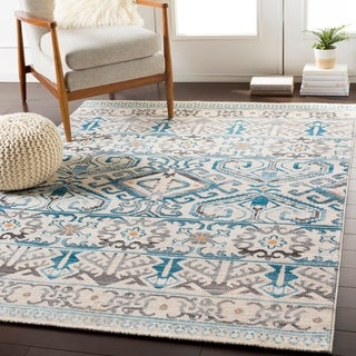 Thane Teal & Beige Southwestern Accent Rug - 2' x 3'