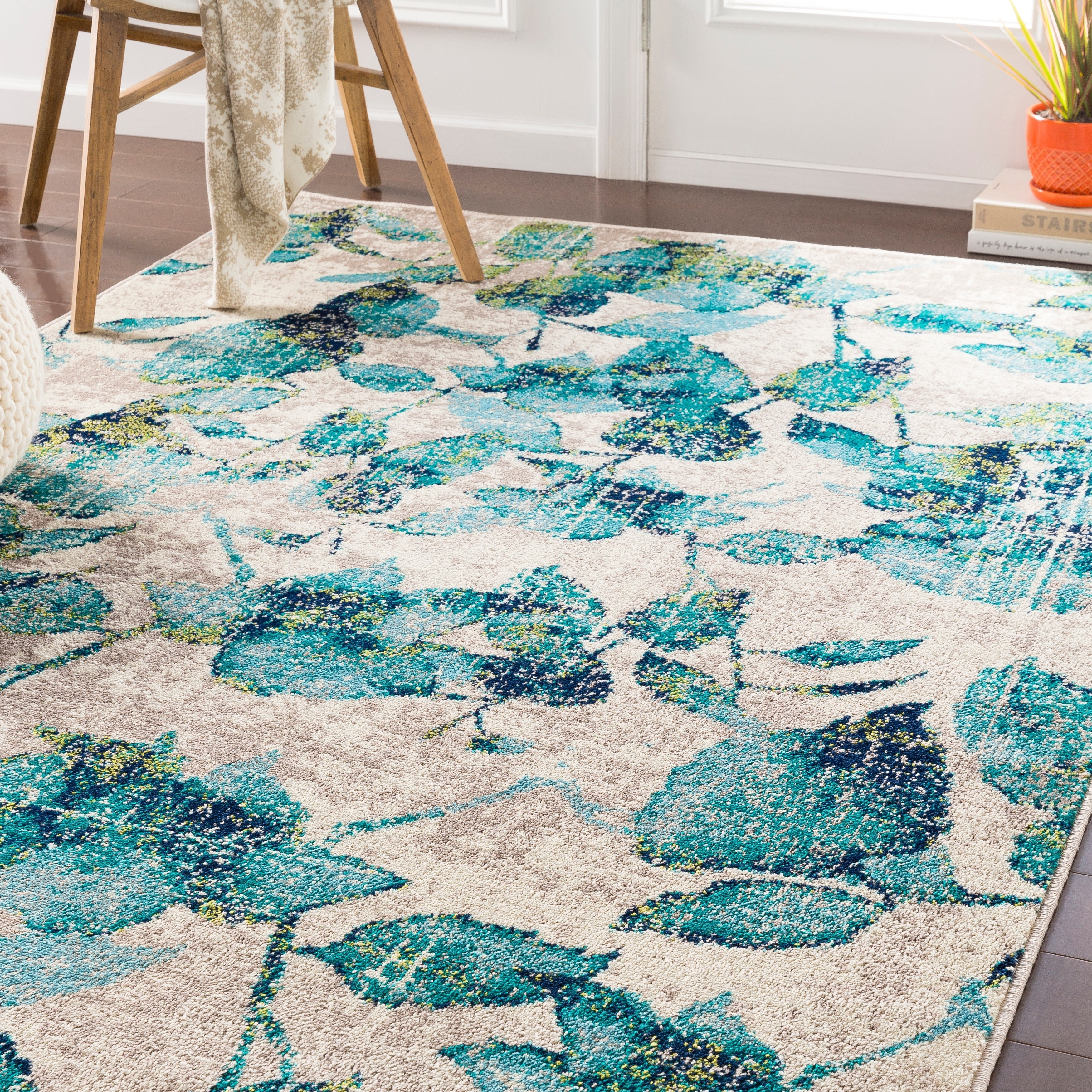 Picture of: Orazio Teal Floral Accent Rug 2 X 3 On Sale Overstock 22402599