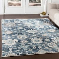 Eadgar Navy Updated Traditional Area Rug - 2' x 3'