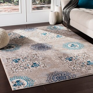 "Zerah Transitional Camel Area Rug - 5'3"" x 7'3"""