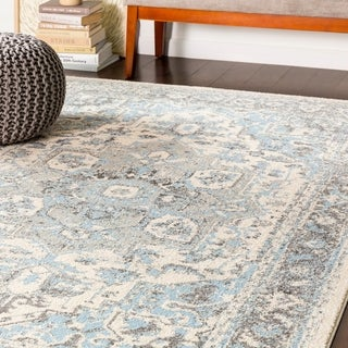 "Arienne Traditional Pale Blue Area Rug - 5'3"" x 7'3"""