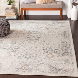 """Alethea Distressed Traditional Camel Area Rug - 5'3"""" x 7'3"""""""