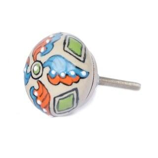 Floral Ceramic Door Knob Sets Package Cabinet Drawer Pull Handles Furniture Decor Lots Set (multi-color#08)