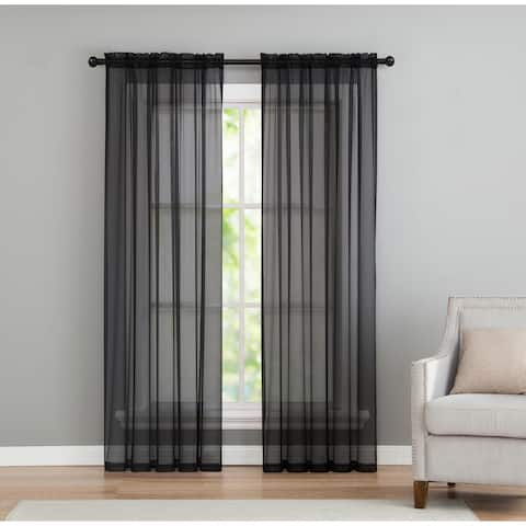 VCNY Home Infinity Sheer Rod Pocket Curtain Panel Pair