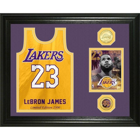 """Lebron James """"Los Angeles Lakers Jersey """" Bronze Coin Photo Mint - Multi-color"""