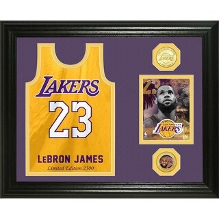 "Lebron James ""Los Angeles Lakers Jersey "" Bronze Coin Photo Mint - Multi-color"