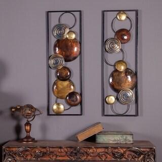 Set of 2 Metal Wall Panels