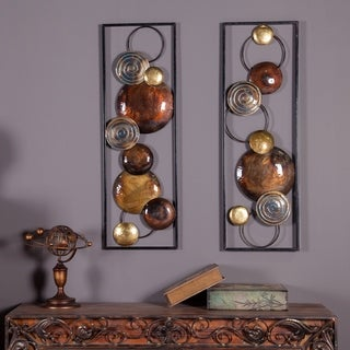Link to Set of 2 Modern Metal Wall Panels Similar Items in Mirrors