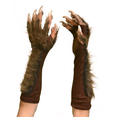 Zagone Studios Halloween Dress Up Costume Adult Wolf Gloves (Brown) (one size)
