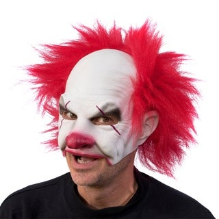 Zagone Studios Carnival Creepy Clown Latex Halloween Adult Costume Mask (one size)