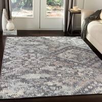Alvaro Handmade Bohemian Charcoal Wool Area Rug - 8' x 10'