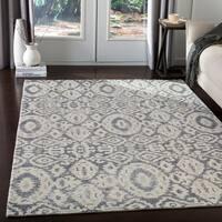Dalian Handmade Bohemian Grey Wool Area Rug - 8' x 10'