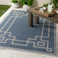 "Gaetana Navy Indoor/Outdoor Area Rug - 7'6"" x 10'9"""