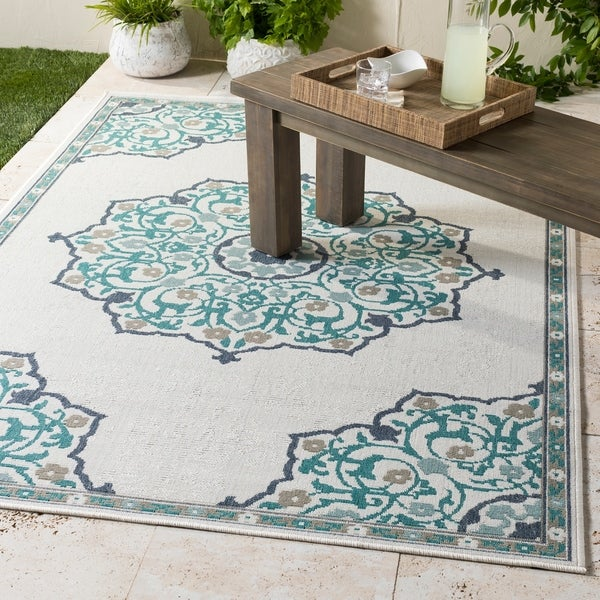 Erminio Medallion Indoor/ Outdoor Area Rug