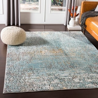 Barsala Aqua Contemporary Abstract Area Rug - 9' x 13'1""