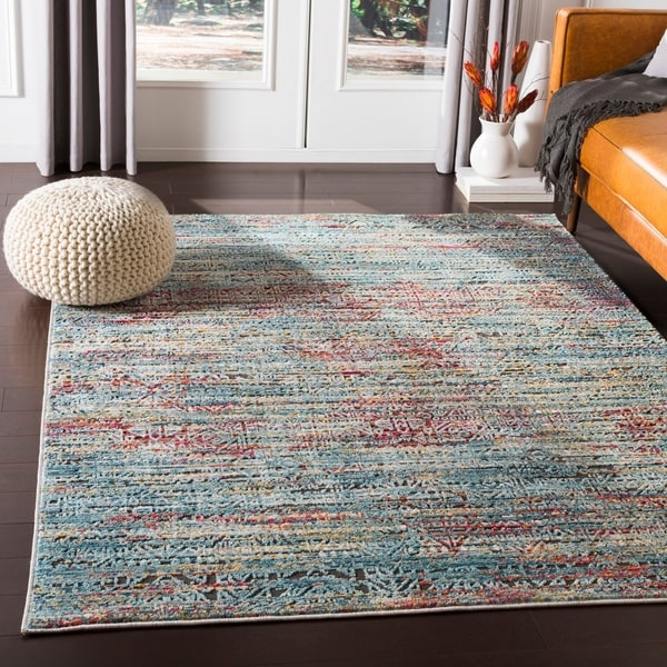 shop shazmina blue red bohemian area rug 7 39 10 x 10 39 6 on sale free shipping today. Black Bedroom Furniture Sets. Home Design Ideas
