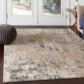 "Porch & Den Highcreek Beige Abstract Area Rug - 6'7"" x 9'6"""