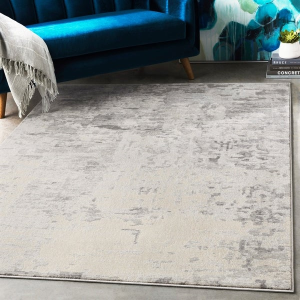 "Tyra Abstract Charcoal Area Rug - 9'3"" x 12'3"""