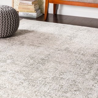 "Cyrus Abstract Light Grey Area Rug - 7'10"" x 10'6"""