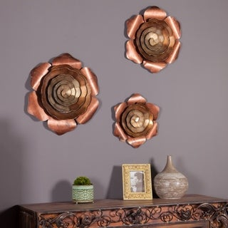 Set of 3 Flower Wall Plaque