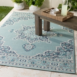 Gaspare Medallion Indoor/ Outdoor Accent Rug
