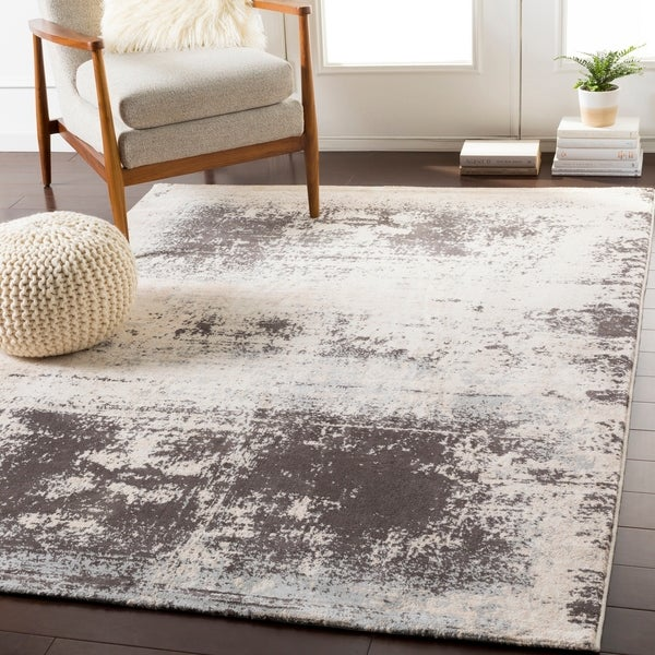 Moira Contemporary Charcoal Beige Accent Rug