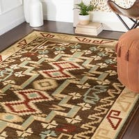 Mithra Dark Brown Southwestern Accent Rug - 2' x 3'