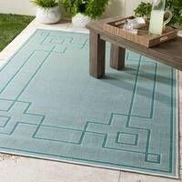 """Gaetana Aqua Indoor/Outdoor Area Rug - 5'3"""" x 7'6"""""""