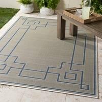 Gaetana Taupe Indoor/Outdoor Area Rug - 5'3 x 7'6