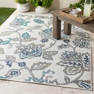 Cesarina Floral Indoor/ Outdoor Area Rug