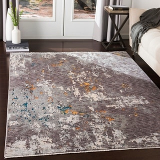Truman Contemporary Charcoal Area Rug - 5' x 8'2""