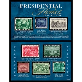 Presidential Homes Stamp Collection