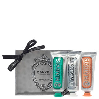 Marvis Travel with Flavour Set Classic, Whitening and Ginger Toothpaste (Pack of 3)