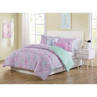 VCNY Home Marbella Reversible Pink Paisley Comforter Set