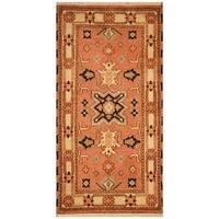 Herat Oriental Indo Hand-knotted Tribal Kazak Wool Rug (2'2 x 4'1)