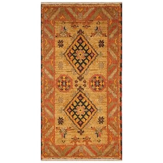Handmade Kazak Wool Rug (India) - 2'2 x 3'10