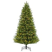 Puleo International 9 ft Glacier Fir Christmas Tree with 1000 Clear Lights