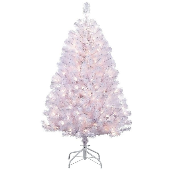 White 4 Foot Christmas Tree: Shop Puleo International 4.5 Ft Shiny White Northern Fir