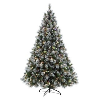 Puleo International Fiber Optic Winter Wonderland Christmas Tree with 500 Clear Lights