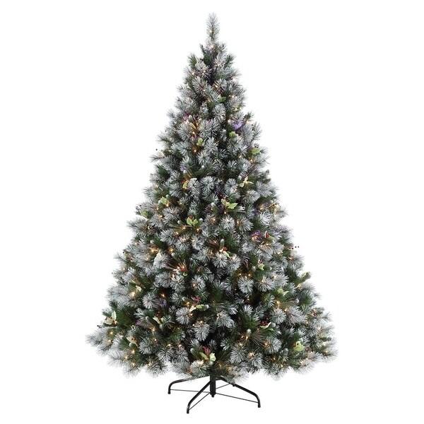 Puleo International Fiber Optic Winter Wonderland Christmas Tree With 500 Clear Lights