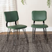 Flex Back Dining Chair with Black Stitching, Set of 2 - 22 x 18 x 33h