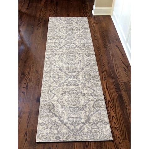 Admire Home Living Catherine Traditional Oriental Distressed Medallion Pattern Area Rug