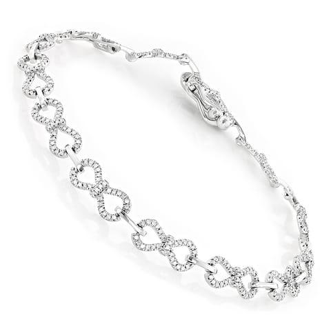 Pave Bracelets 14K Gold Ladies Diamond Bracelet 0.5ctw by Luxurman